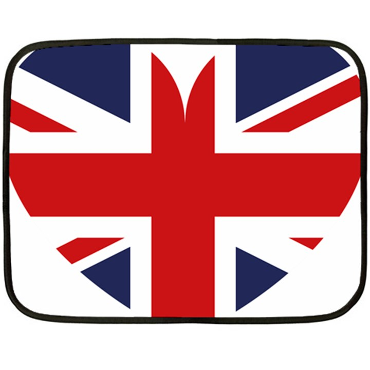 Uk Flag United Kingdom Fleece Blanket (Mini)