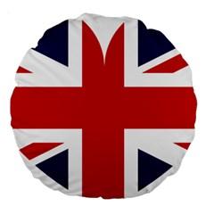 Uk Flag United Kingdom Large 18  Premium Round Cushions