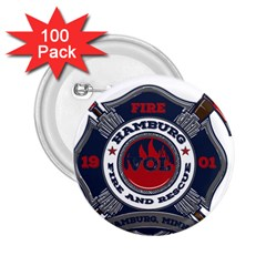 Hamburg, Minn Fire Dept 2 25  Buttons (100 Pack)