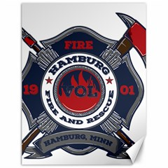 Hamburg, Minn Fire Dept Canvas 12  X 16