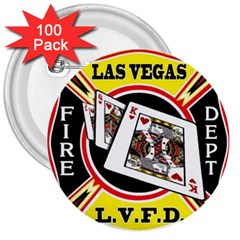 Las Vegas Fire Department 3  Buttons (100 Pack)
