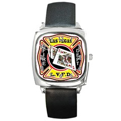 Las Vegas Fire Department Square Metal Watch