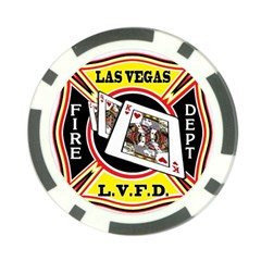 Las Vegas Fire Department Poker Chip Card Guard (10 Pack)