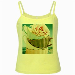 Tea Cups Yellow Spaghetti Tank