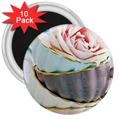 Tea Cups 3  Magnets (10 Pack)