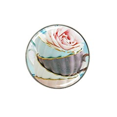 Tea Cups Hat Clip Ball Marker (4 Pack)