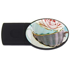 Tea Cups Usb Flash Drive Oval (4 Gb)