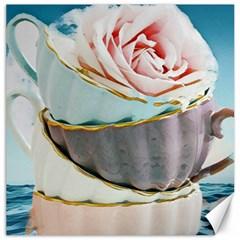 Tea Cups Canvas 16  X 16