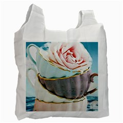 Tea Cups Recycle Bag (one Side)