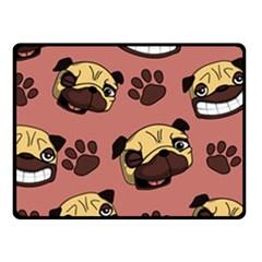 Happy Pugs Fleece Blanket (small)