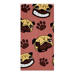 Happy Pugs Shower Curtain 36  X 72  (stall)