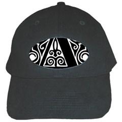 Alphabet Calligraphy Font A Letter Black Cap