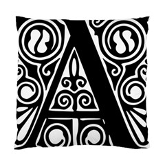 Alphabet Calligraphy Font A Letter Standard Cushion Case (two Sides)
