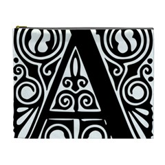 Alphabet Calligraphy Font A Letter Cosmetic Bag (xl)