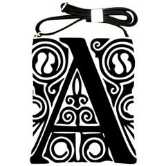 Alphabet Calligraphy Font A Letter Shoulder Sling Bags
