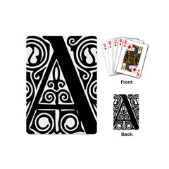 Alphabet Calligraphy Font A Letter Playing Cards (mini)