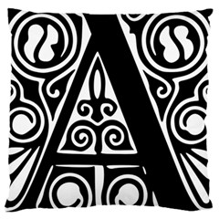 Alphabet Calligraphy Font A Letter Large Cushion Case (two Sides)