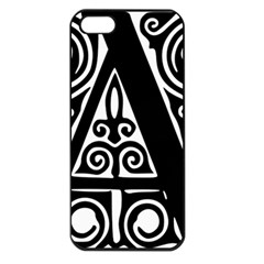 Alphabet Calligraphy Font A Letter Apple Iphone 5 Seamless Case (black)