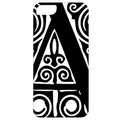 Alphabet Calligraphy Font A Letter Apple Iphone 5 Classic Hardshell Case