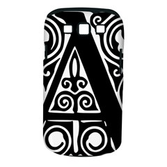 Alphabet Calligraphy Font A Letter Samsung Galaxy S Iii Classic Hardshell Case (pc+silicone)