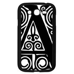 Alphabet Calligraphy Font A Letter Samsung Galaxy Grand Duos I9082 Case (black)