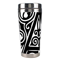 Alphabet Calligraphy Font A Letter Stainless Steel Travel Tumblers