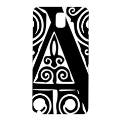 Alphabet Calligraphy Font A Letter Samsung Galaxy Note 3 N9005 Hardshell Back Case