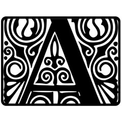 Alphabet Calligraphy Font A Letter Double Sided Fleece Blanket (large)