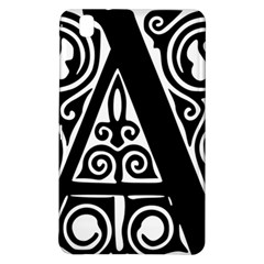 Alphabet Calligraphy Font A Letter Samsung Galaxy Tab Pro 8 4 Hardshell Case