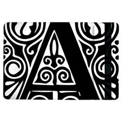 Alphabet Calligraphy Font A Letter Ipad Air Flip