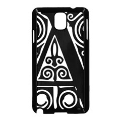 Alphabet Calligraphy Font A Letter Samsung Galaxy Note 3 Neo Hardshell Case (black)