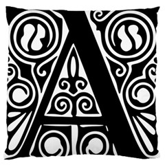 Alphabet Calligraphy Font A Letter Large Flano Cushion Case (one Side)