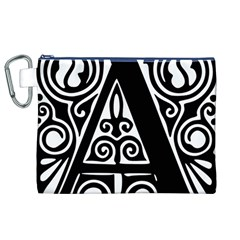 Alphabet Calligraphy Font A Letter Canvas Cosmetic Bag (xl)
