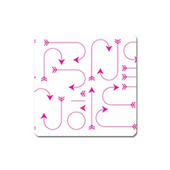 Arrows Girly Pink Cute Decorative Square Magnet