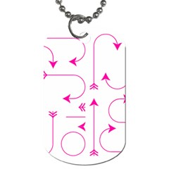Arrows Girly Pink Cute Decorative Dog Tag (one Side)