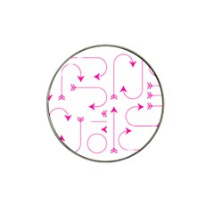 Arrows Girly Pink Cute Decorative Hat Clip Ball Marker (10 Pack)