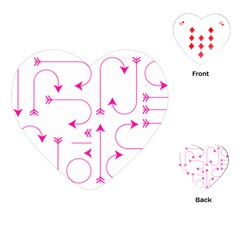 Arrows Girly Pink Cute Decorative Playing Cards (heart)