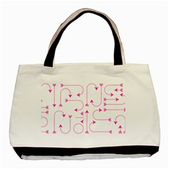 Arrows Girly Pink Cute Decorative Basic Tote Bag