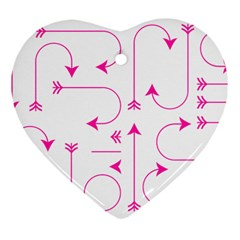Arrows Girly Pink Cute Decorative Heart Ornament (two Sides)