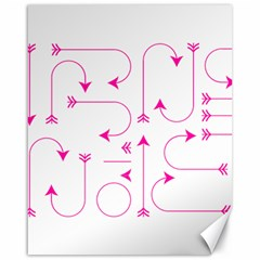 Arrows Girly Pink Cute Decorative Canvas 16  X 20