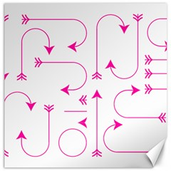 Arrows Girly Pink Cute Decorative Canvas 20  X 20