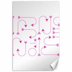 Arrows Girly Pink Cute Decorative Canvas 24  X 36