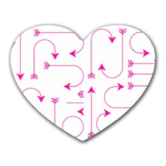 Arrows Girly Pink Cute Decorative Heart Mousepads