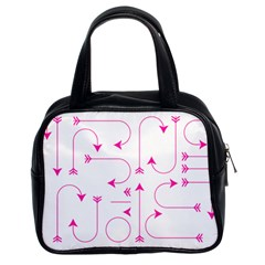Arrows Girly Pink Cute Decorative Classic Handbags (2 Sides)