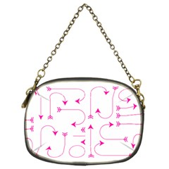 Arrows Girly Pink Cute Decorative Chain Purses (two Sides)