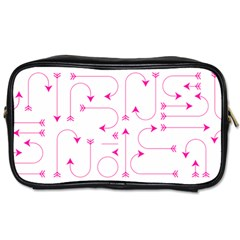 Arrows Girly Pink Cute Decorative Toiletries Bags 2 Side