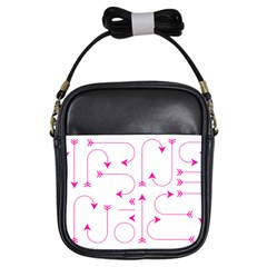 Arrows Girly Pink Cute Decorative Girls Sling Bags