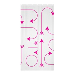 Arrows Girly Pink Cute Decorative Shower Curtain 36  X 72  (stall)
