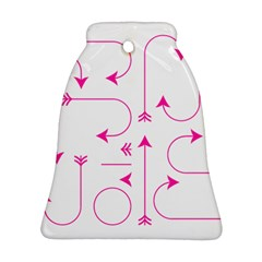 Arrows Girly Pink Cute Decorative Bell Ornament (two Sides)