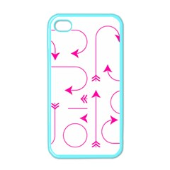 Arrows Girly Pink Cute Decorative Apple Iphone 4 Case (color)